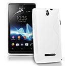 Custodia Sony Ericsson Xperia E Dual S-Line Silicone Bumper - Bianco