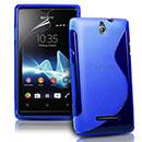 Custodia Sony Ericsson Xperia E Dual S-Line Silicone Bumper - Blu