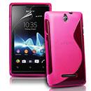 Custodia Sony Ericsson Xperia E Dual S-Line Silicone Bumper - Fucsia