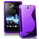 Custodia Sony Ericsson Xperia E Dual S-Line Silicone Bumper - Porpora