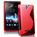 Custodia Sony Ericsson Xperia E Dual S-Line Silicone Bumper - Rosso