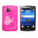 Custodia Sony Ericsson Xperia Mini ST15i Farfalla Plastica Cover Rigida - Fucsia