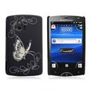 Custodia Sony Ericsson Xperia Mini ST15i Farfalla Plastica Cover Rigida - Nero