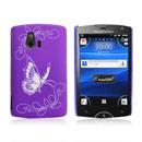 Custodia Sony Ericsson Xperia Mini ST15i Farfalla Plastica Cover Rigida - Porpora