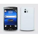 Custodia Sony Ericsson Xperia Mini ST15i Plastica Cover Rigida Guscio - Bianco
