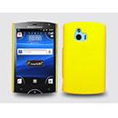 Custodia Sony Ericsson Xperia Mini ST15i Plastica Cover Rigida Guscio - Giallo