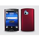 Custodia Sony Ericsson Xperia Mini ST15i Plastica Cover Rigida Guscio - Rosso