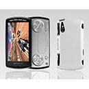 Custodia Sony Ericsson Xperia Play Z1i Plastica Cover Rigida Guscio - Bianco