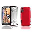 Custodia Sony Ericsson Xperia Play Z1i Plastica Cover Rigida Guscio - Rosso