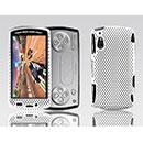 Custodia Sony Ericsson Xperia Play Z1i Rete Cover Rigida Guscio - Bianco