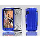 Custodia Sony Ericsson Xperia Play Z1i Rete Cover Rigida Guscio - Blu