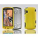 Custodia Sony Ericsson Xperia Play Z1i Rete Cover Rigida Guscio - Giallo