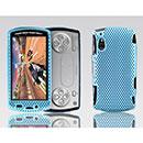 Custodia Sony Ericsson Xperia Play Z1i Rete Cover Rigida Guscio - Luce Blu
