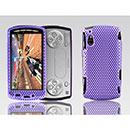 Custodia Sony Ericsson Xperia Play Z1i Rete Cover Rigida Guscio - Porpora