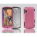 Custodia Sony Ericsson Xperia Play Z1i Rete Cover Rigida Guscio - Rosa