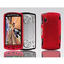 Custodia Sony Ericsson Xperia Play Z1i Rete Cover Rigida Guscio - Rosso