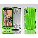 Custodia Sony Ericsson Xperia Play Z1i Rete Cover Rigida Guscio - Verde