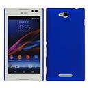 Custodia Sony Xperia C S39h Plastica Cover Rigida Guscio - Blu