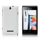 Custodia Sony Xperia E Dual Plastica Cover Rigida Guscio - Bianco