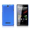 Custodia Sony Xperia E Dual Plastica Cover Rigida Guscio - Blu