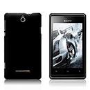 Custodia Sony Xperia E Dual Plastica Cover Rigida Guscio - Nero