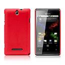 Custodia Sony Xperia E Dual Plastica Cover Rigida Guscio - Rosso