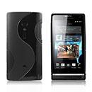 Custodia Sony Xperia Ion LT28i S-Line Silicone Bumper Cover - Nero