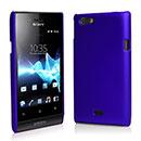 Custodia Sony Xperia Miro ST23i Plastica Cover Rigida Guscio - Blu