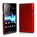Custodia Sony Xperia Miro ST23i Plastica Cover Rigida Guscio - Rosso