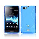 Custodia Sony Xperia Miro ST23i S-Line Silicone Bumper - Blu