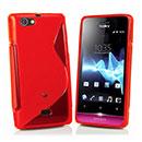 Custodia Sony Xperia Miro ST23i S-Line Silicone Bumper - Rosso