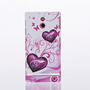 Custodia Sony Xperia P LT22i Amore Plastica Cover Rigida - Porpora
