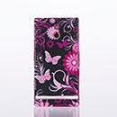 Custodia Sony Xperia P LT22i Farfalla Plastica Cover Rigida - Nero