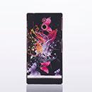 Custodia Sony Xperia P LT22i Farfalla Plastica Cover Rigida - Rosso