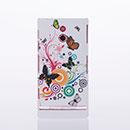 Custodia Sony Xperia P LT22i Farfalla Plastica Cover Rigida - Verde