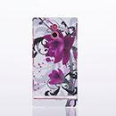 Custodia Sony Xperia P LT22i Fiori Plastica Cover Rigida - Porpora
