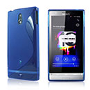 Custodia Sony Xperia P LT22i S-Line Silicone Bumper - Blu