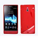 Custodia Sony Xperia P LT22i S-Line Silicone Bumper - Rosso