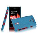 Custodia Sony Xperia P LT22i Sabbie Mobili Cover Bumper - Blu