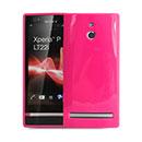 Custodia Sony Xperia P LT22i Silicone Case - Fucsia