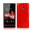 Custodia Sony Xperia P LT22i Silicone Case - Rosso