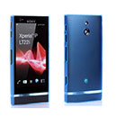 Custodia Sony Xperia P LT22i Silicone Trasparente Case - Blu