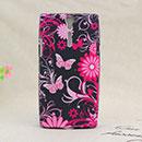 Custodia Sony Xperia S LT26i Farfalla Silicone Gel Case - Nero