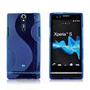 Custodia Sony Xperia S LT26i S-Line Silicone Bumper - Blu
