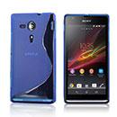 Custodia Sony Xperia SP M35H S-Line Silicone Bumper - Blu