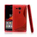 Custodia Sony Xperia SP M35H S-Line Silicone Bumper - Rosso