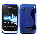 Custodia Sony Xperia Tipo Dual ST21i2 S-Line Silicone Bumper - Luce Blu