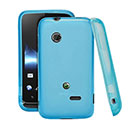 Custodia Sony Xperia Tipo Dual ST21i2 Silicone Trasparente Case - Blu