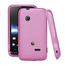 Custodia Sony Xperia Tipo Dual ST21i2 Silicone Trasparente Case - Rosa