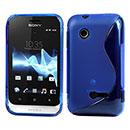 Custodia Sony Xperia Tipo ST21i S-Line Silicone Bumper - Luce Blu